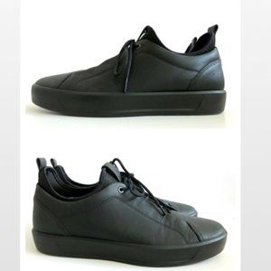 ECCO Mens Soft 8 Low Sneakers Black Leather Sz 11